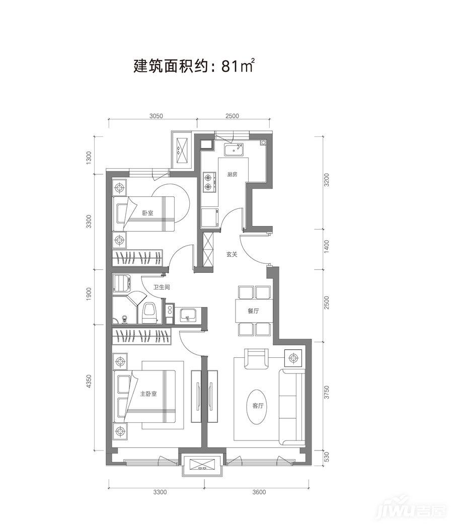 81平米户型
